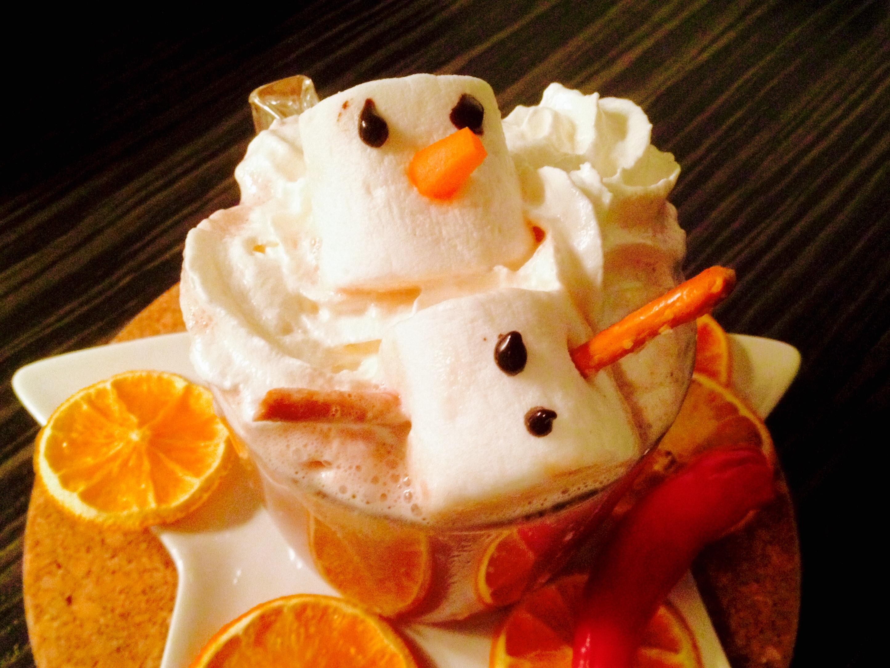 Warmer Kakao mit Marshmallow